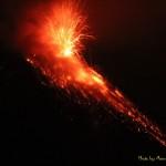 banos photo extraordinary the volcano erupting