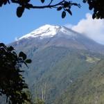 snowcapped banos photo before the eruption, tungurahua volcano